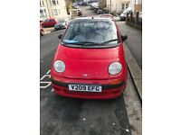 Daewoo Matiz for sale. Low millage, MOT December 2018