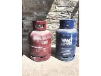 2 x Gas bottle cylinders
