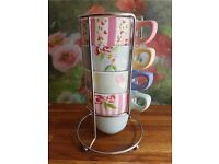 M&S Stacking Cups - Vintage Tea Party
