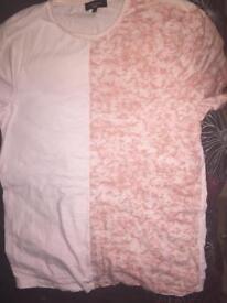 Men's pink split shirt