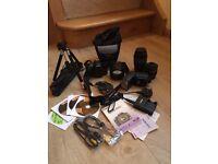 Canon ESO 450D digital camera and all accessories.