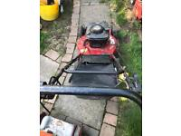 """Clarke 22"""" self propelled petrol lawn mower engine seized spares or repairs £35"""