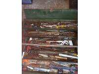various hand tools imperial measurements spanners, wrenches, screwdrivers, hammers etc