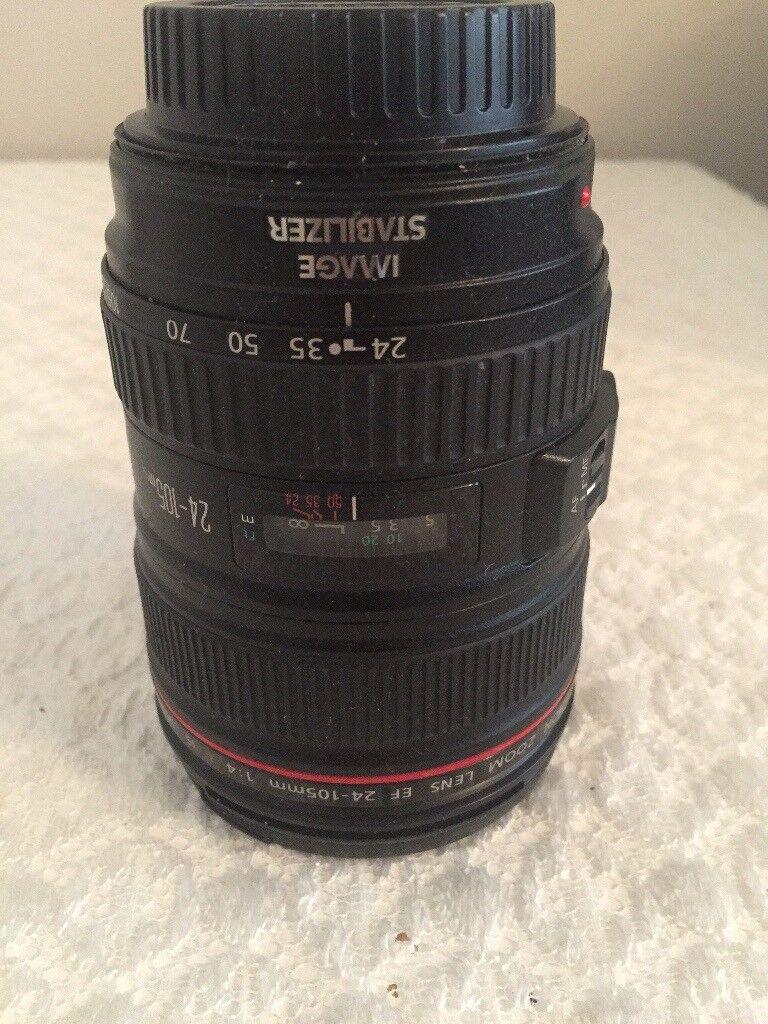 Canon lens 24-105mm 1:4 L IS USM