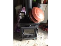 For Sale. Used Log Burner. In excellent condition. Inc Lined Flex Flue. Connector and Chimney Cowl.