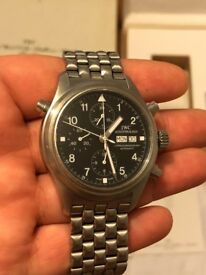 MEN'S IWC DOUBLE DOPPEL CHRONOGRAPH RATTRAPANTE WATCH RRP £7000 PX SWAP ROLEX