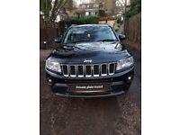 Jeep Compass Limited 2.4 62 reg 4wd black. Petrol.