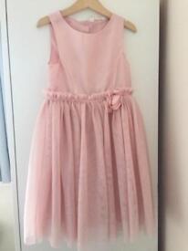 H&M Girls Tulle Blush Pink Dress age 6-7