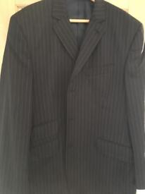"""Gorgeous Next men's pin stripped suit - 44""""r chest & 34""""r trousers"""