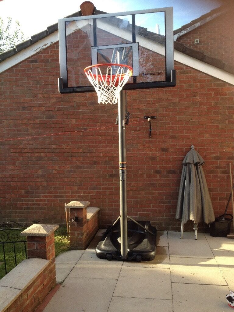 Reebok Full Size Heavy Duty Adjustable Basketball Stand ...