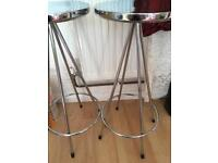 Two retro style kitchen stools