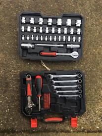 Forge steel socket and spanner set