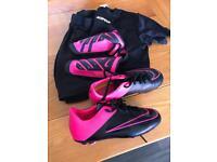 Girls Nike football boots