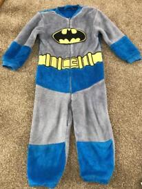 2-3 fleecy Batman onsie