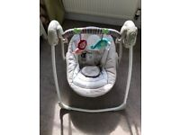 Bright Starts Cosy Kingdom Portable musical and mechanical Baby Swing