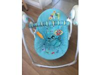 Baby swing chair with music