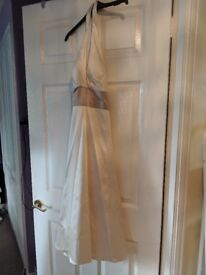 Cream Bridesmaid Dress | Size 10 | Warehouse | Satin Look & Feel | Worn Once