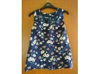 Oasis blue floral top size 8