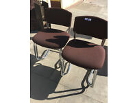 4 x chairs , chrome frames with material seats , all in good condition. £60 for the 4 chairs..