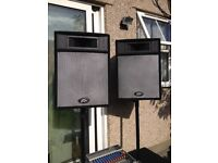 3KW Pa System DJ All Peavey Equipment-Power Amplifier & 4 Speakers 2 Stands/Leads/Mixer/Flight Case