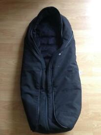 Mothercare Orb Footmuff Cosy toes in black