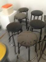 4 Matching Black Bar Stools for SALE