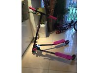Yvolution Kid's Y Fliker Air A3 3 Wheeled Scooter - Pink