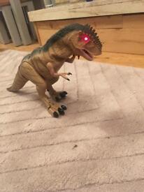 T. rex dinosaur walks, roars and lights up