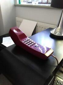 Retro BT Slimtel Telephone Handset, 1980's