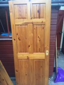 3 solid wood interior doors