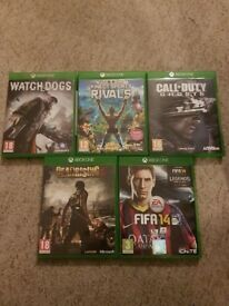 Pre-owned Xbox One 5 game bundle joblot