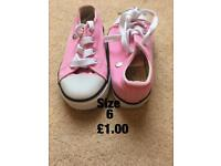 Girls pink shoes size 6