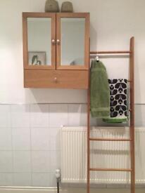 Oak Bathroom Storage Furniture 4 piece set £80 ONO