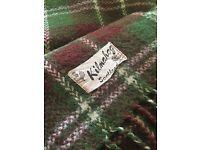 Vintage wool tartan blankets