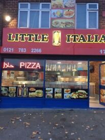 pizza shop takeaway restaurant with fish and chips