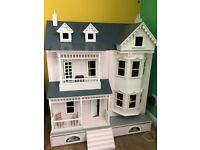 Sue Ryder Dolls House, Nearly fully decorated and fully furnished with lots of accessorise.