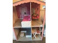 Chad valley Designafriend Wooden Dolls house (including furniture)