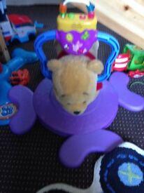Bouncing pooh bear