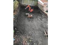 Ground work and mini digger hire with driver