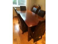 Solid mahogany table with 6 chairs