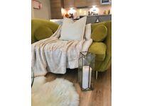 Kooper Gold velvet sofa MADE