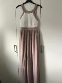 High neck long occasion dress
