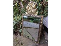 Lovely gold ship mirror