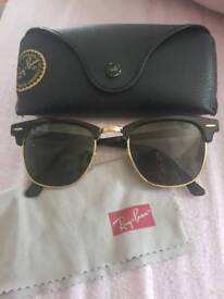 Real rayban clubmaster sunglasses
