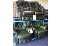 Saxon chesterfield 2&2 recliner chair
