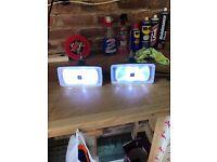 2 x Hella Lamps w/ LED bulbs