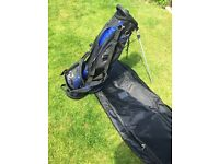 Golf holiday travel cover case with wheels it is durable and lightweight plus lightweight stand bag