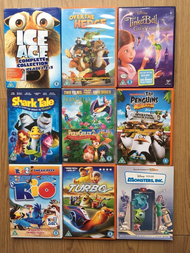 HUGE Walt Disney Pixar DVD Lot 53 DVDs Childrens Animated ...  |Dreamworks Disney Dvd Collection