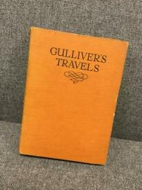 Vintage hardback book Gulliver's travels by Jonathan Swift 30 colour plates retro antique item SDHC