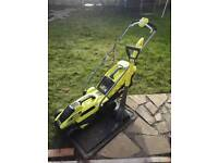 Ryobi lawn mower and strimmer